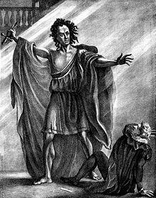 The actor T. P. Cooke as Frankenstein's Monster in an 1823 stage