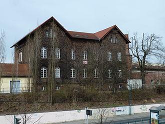 Frankfurt (Oder) station - Listed former workshop building of 1855 (Bahnhofstr. 7)