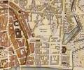 Frankfurt Stadtplan um 1840 jewish cemetery.png