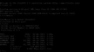 FreeDOS - Image: Free DOS 1.1 screenshot