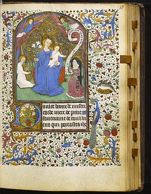 Little Office of Our Lady - French - Leaf from Book of Hours - about 1460, Walters Art Museum