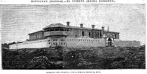 Cotabato City - The Spanish fortress in Cotabato, El Fuerte Reina Regente, 1896