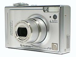 Exemplo de câmera compacta digital