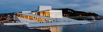 Oslo Opera House - Image: Full Opera by night