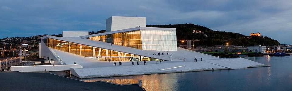 The new Opera House in Oslo.