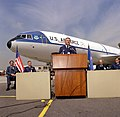 GEN Edgar S. Harris Jr., Commander 8th Air Force, speaks at the delivery ceremony for this KC-10A Extender aircraft.jpg