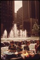 GIRL SCOUTS LUNCH ALONGSIDE ROCKEFELLER CENTER FOUNTAIN 5TH AVENUE SIDE - NARA - 551641.tif