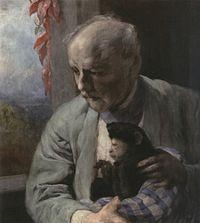 Gabriel von Max - Selbstbildnis mit Affen - 1910.jpg