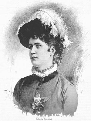 Gabriela Preissová - Gabriela Preissová (Jan Vilímek 1886)