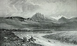 Joseph Paul Gaimard - Iceland. Engraving from Gaimard 1835