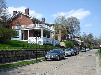 Galena Historic District - Prospect Street is lined with multiple intact 19th Century mansions.