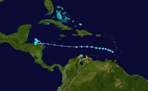 Tropical Storm Gamma - Image: Gamma 2005 track