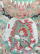 Gamnodo detail (replica), Souls Receiving the Sweet Dew of Immortality from Buddhas, 18th century - Korean Culture Museum, Incheon Airport, Seoul, South Korea - DSC00804.JPG