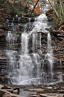 Ganoga Falls, Ricketts Glen, in autumn.JPG