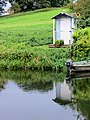 Garden shed on the river bank - Yarwell - August 2012 - panoramio.jpg