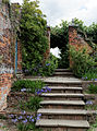 Garden steps in Sundial Garden northeast Hatfield House Hertfordshire England.jpg