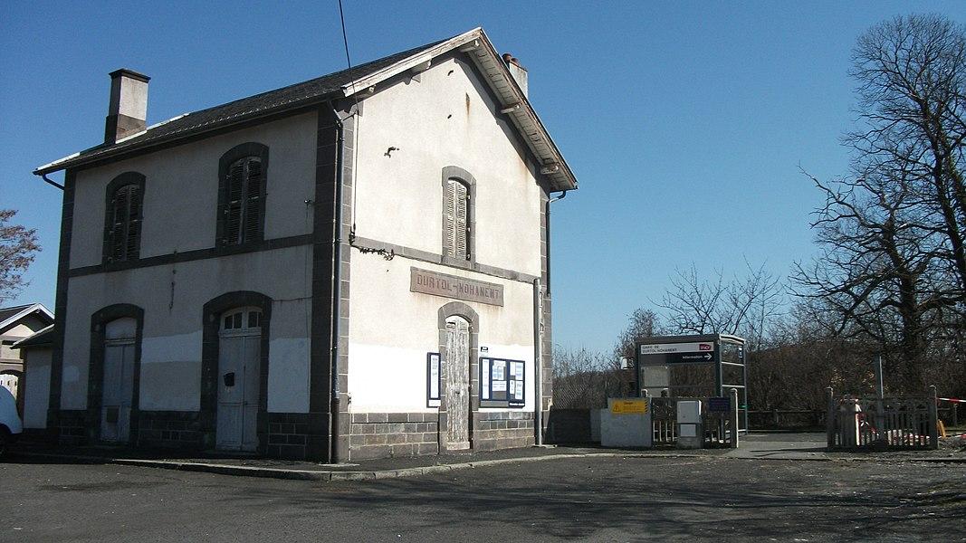 Durtol-Nohanent railway station (Puy-de-Dôme, Auvergne, France)
