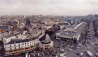 Gare de la Bastille - La Bastille Station in the 1980s.