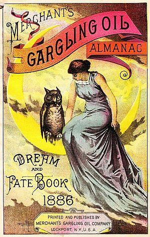 Francis R. Delano - Almanac of the Merchants' Gargling Oil Company, 1886