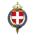 Garter encircled arms of Prince Emanuel Philibert of Savoy, Duke of Aosta.png