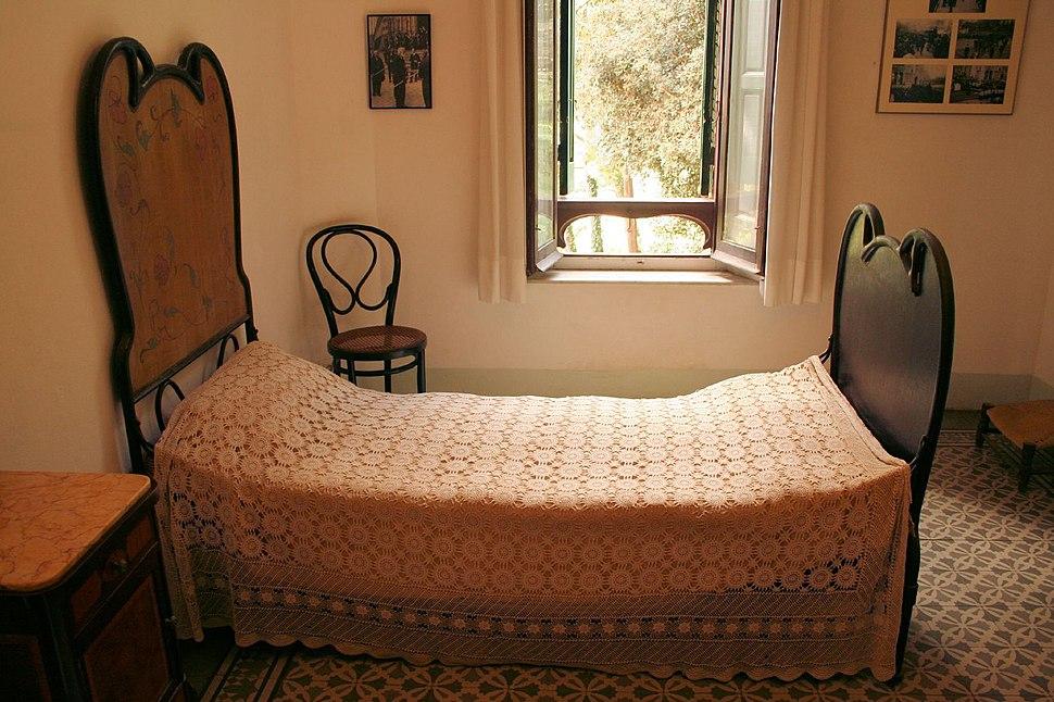 Gaudi's Bedroom in his House in Park Güell