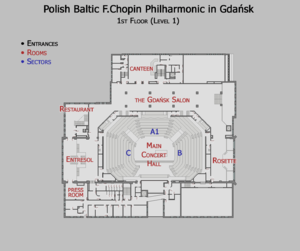 Philharmonic 1st level floor map