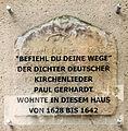 Gedenktafel Kirchplatz 14 (Wittenberg) Paul Gerhardt.jpg