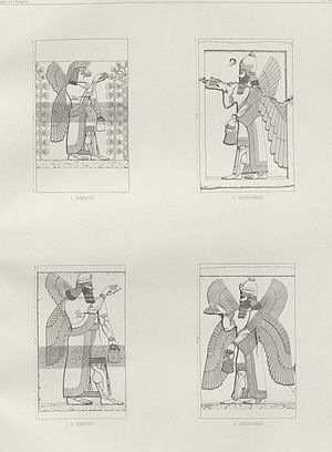 Felix Thomas - Illustration from the book,Nineveh and Assyria by Victor Place and Felix Thomas, 1867