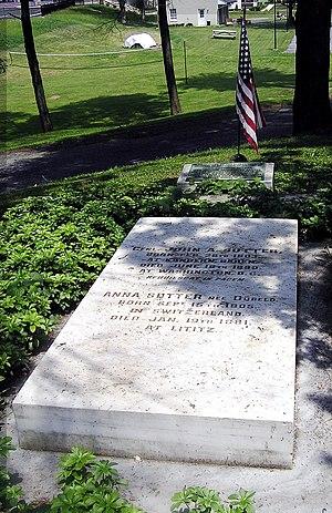 Lititz, Pennsylvania - General Sutter Grave in Lititz Moravian Cemetery