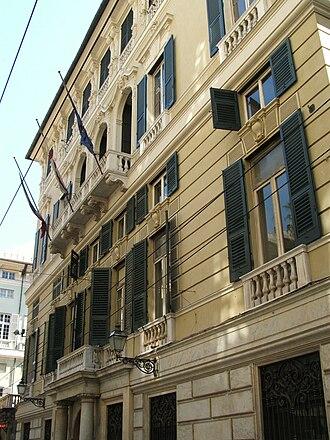 Genoa: Le Strade Nuove and the system of the Palazzi dei Rolli - Palazzo Balbi Piovera Raggio (via Balbi (Genoa)).