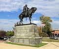 "George Armstrong Custer Equestrian Statue, ""Sighting the Enemy"", 1910, Elm Street ^ North Monroe Avenue, Monroe, Michigan - panoramio.jpg"