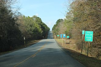 Decatur County, Georgia - The welcome sign for Decatur County on State Route 97