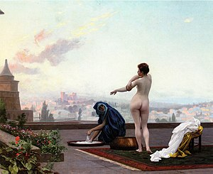 Bathsheba - Jean-Léon Gérôme's depiction of Bathsheba bathing as viewed from David's perspective.