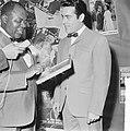 Gert Timmerman ontvangt gouden en diamanten plaat, Louis Armstrong en Gert Timme, Bestanddeelnr 917-8179.jpg
