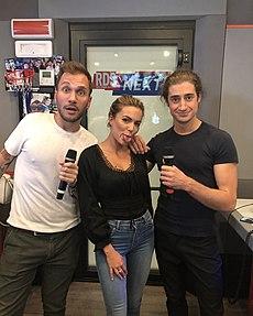 GiangiDoppiaggi insieme a Giacomo Hawkman e Ludovica Pagani a radio RDS Next
