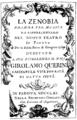 Giovanni Battista Pescetti - Zenobia - titlepage of the libretto - Padua 1761.png