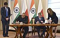 Giriraj Singh and the Minister of Agriculture and Rural Development, Poland, Mr. Krzysztof Jurgiel signing an MoU on Agricultural cooperation, following delegation level talks between the Vice President.jpg