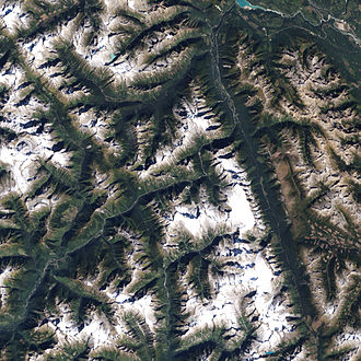 Glacier National Park (Canada) - Glacier National Park, as seen from space