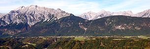 Gnadenwald with the Karwendel in the background