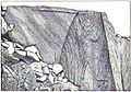 Gneiss inclusion in granite Fig26 Keyes 1895.jpg