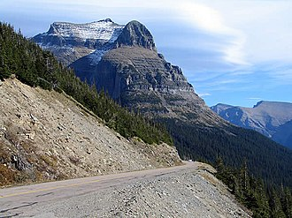 Going-to-the-Sun Mountain - Image: Going to the Sun Road with Going to the Sun Mountain