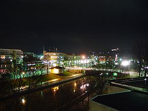 Salo, Finland - Salo town centre by night