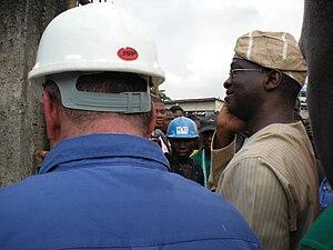 Babatunde Fashola - Babatunde Fashola commissioning a university-style gate for Birch Freeman High School, in Surulere, on 4 February 2010.