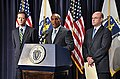 Governor Patrick, Richard Davey, Jeffrey Mullan, August 4, 2011 (6008877485).jpg