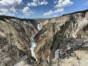 Grand Canyon of Yellowstone og Lower Falls, Wyoming, USA.jpg