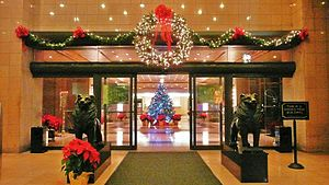 Entrance to the Grand during Christmas and hol...
