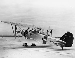 Great Lakes BG - BG-1, showing the single bay wings.