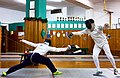 Greek Epee Fencers. Evening training at Athenaikos Fencing Club. On the left Agapitos Papadimitriou.jpg