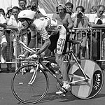 Greg LeMond during the final-day time trial
