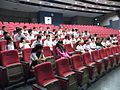 Guests from Dalian, China, in the Auditorium of Nan Hua High School, Singapore - 20131227.jpg